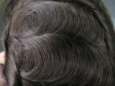 Undetectable Hairline Full Lace Hair Replacement System Mens Toupee Hairpiece 1b