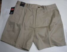 Roundtree & Yorke Size 32 Khaki Classic Pleated Shorts New Mens
