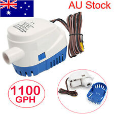12V Boat Automatic Submersible Bilge Water Pump 1100GPH Auto With Float Switch