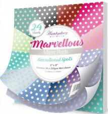 "Hunkydory ~ 8x8/"" Marvellous Mirri Pads ~ 24 x 220gsm sheets ~ Deluxe Damask"