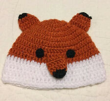 New Knitted Knit Acrylic Infant Baby FOX Foxy Winter Hat Beanie Cap 0-9 Months