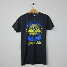 70s/80s Tee Swing M 50/50 USA Black Blenheim Original Ginger Ale Graphic TShirt