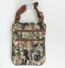 Signare Tapestry Sling bag cross body Cheeky Cat