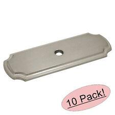 *10 Pack* Cosmas Satin Nickel Cabinet Hardware Knob Backplates #B-112SN