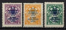 Latvia 1923 Sc#B21/B23 - Surcharged Arms Set of 3 Semi-Postal Mint MHR VF-XF