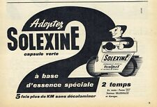 Publicité Advertising 097 1958  Solexine carburant Velosolex 2 temps capsule ver