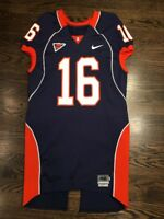 Game Worn Used Illinois Fighting Illini Football Jersey #16 Size 46 HOOMANAWANUI
