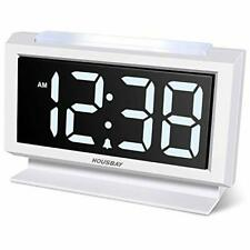 Digital Alarm Clock for Bedroom - Handy Night Light, Large Numbers with Display