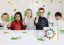 Liechtenstein 2017 Maxi HPZ SCHAAN 50 ans 1 V cartes écoles d'enseignement timbres