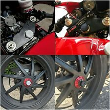 Honda VFR400 NC30 / NC35 Steering Stem Caps and Rear Wheel Nut Covers