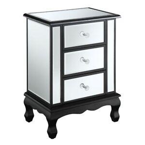 Convenience Concepts GC Vineyard 3 Drawer End Table, Black - 413359BL