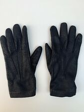 YVES SAINT LAURENT BY STEFANO PIIATI TEXTURED LEATHER GLOVES CASHMERE LINED