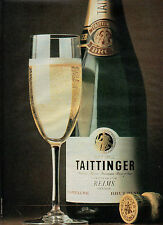 Publicité Advertising 1981  CHAMPAGNE TAITTINGER REIMS