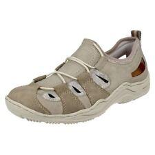 Zapatos planos de mujer mocasines Rieker de piel sintética