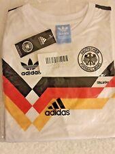 1990 Ricamato Germania Ovest Casa Retrò football shirt-M