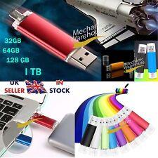 1TB 128GB 64 32 i Flash Drive OTG Device USB Memory Thumb Key Stick Pen Storage