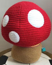 Little Bird By Jools Oliver Knitted Toadstool Door Stop / Nursery Decoration 🍄