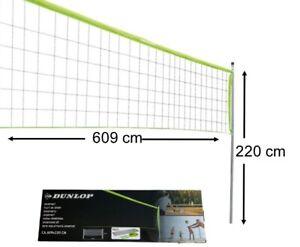 Volleyballnetz Badmintonnetz Tennisnetz I DUNLOP I 609x220 cm I Höhenverstellbar