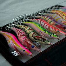 10 Squid Jig 3.5 Multi Egi Color Uv Free Tackle Bag Fishing Tackle Lure Bait