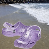 CROCS Baya Glitter Girls Clogs Sandals Lavender SELECT SIZE