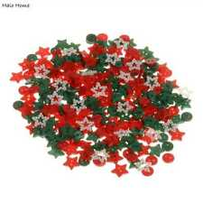 200pcs Mixed Xmas Color Resin Buttons Sewing Scrapbooking Decor 9-13mm