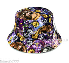 Bucket hat Antique Coin printed Boonie cap for Fishing Hunting Outdoor - Purple