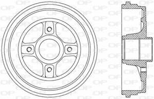 TAMBOUR DE FREIN POUR RENAULT CLIO III 1.5 DCI,1.2 16V,CLIO GRANDTOUR 1.5 DCI
