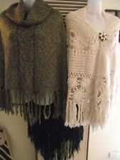Cotton Blend Plus Size Poncho Jumpers & Cardigans for Women
