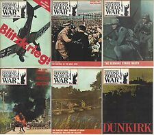 "Original Vintage ""History of the Second World War"" Magazines Misc. Issues/Parts"