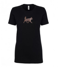 More details for husky leopard print t-shirt gift idea dog ladies top huskey sledge dogs
