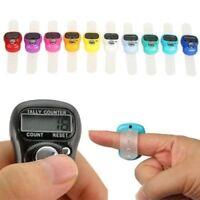 Digital Finger Ring Tally Hand Held Knitting Row counter CLICKER TASBEE LED Ligh