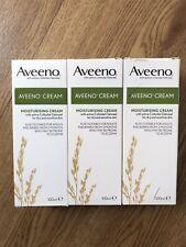 AVEENO MOISTURISING CREAM For dry and sensitive skin 100ml x 3 Units