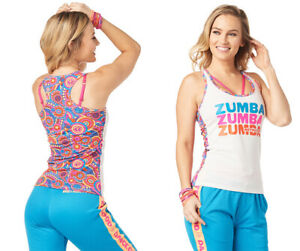 Zumba - Peace Love INSTRUCTOR Racerback Tank Top - White ~ All Sizes!