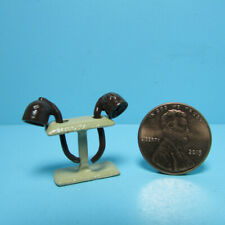 Dollhouse Miniature Metal Pipe Stand with 2 Pipes MUL4109