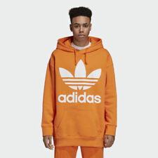 Adidas DH5768 Men originals Trefoil Hoodie LS shirts orange