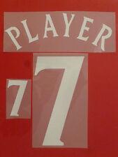 Set Flock Nameset away Trikot jersey shirt England 2002