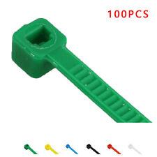 100 Pcs/Set Nylon Plastic Zip Ties Trim Wrap Cable Loop Cord Wire Self Lock