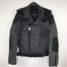 Vintage? Hein Gericke Moto Jacket Black Distressed Cotton Leather Mens S or M ?