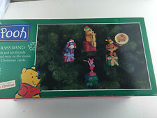 Pooh & Friends Brass Band 21 Carols Mechanical Collectible 1997 Mr. Christmas