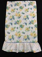 Vintage Westpoint Stevens Blue Yellow Floral Standard Pillow Case Floral NEW
