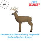 Shooter Buck 3D Deer Archery Target with Replaceable Core, Brown,..