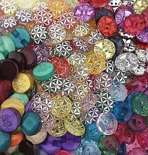 25 Glitter Buttons Acrylic Mix Embellishments Card-making Resin Craft scrapbook