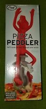 Fred PIZZA PEDDLER Monkey Unicycle Pizza Wheel Red handle peddles move