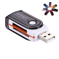 USB 2.0 Mini Card Reader SD M2 TF T-Flash Memory - New