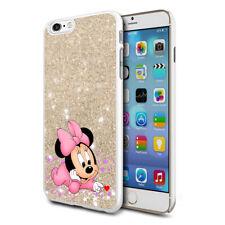 Glitter Effect Disney Minnie Hard Case Cover For Samsung Apple Huawei HTC - 20