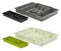 Expandable  Adjustable Plastic Cutlery Tray HOLDER  9 Compartme Drawer Organiser