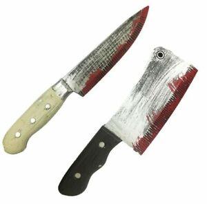 HALLOWEEN KITCHEN KNIFE BUTCHER WEAPON PROP COSTUME FANCY DRESS CLOWN KILLER UK