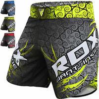 RDX MMA Shorts Cage Fighting Combat Gym Training trunks Muay Thai Kick boxing