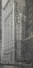 Richard Haas Original Lithograph Print Corner of William & Maiden Lane New York