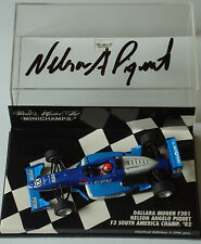 1/43rd Minichamps SIGNED Nelson Piquet Jr , Dallara F301, F3 South Amercia 02